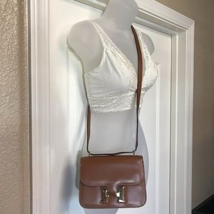 SISO Made in Italy Brown Leather Shoulder Bag